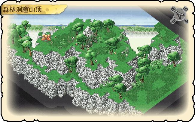森林洞窟山顶